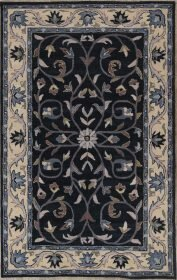 Bovill Oriental Hand-Tufted Wool Navy Blue/Beige Area Rug by Canora Grey