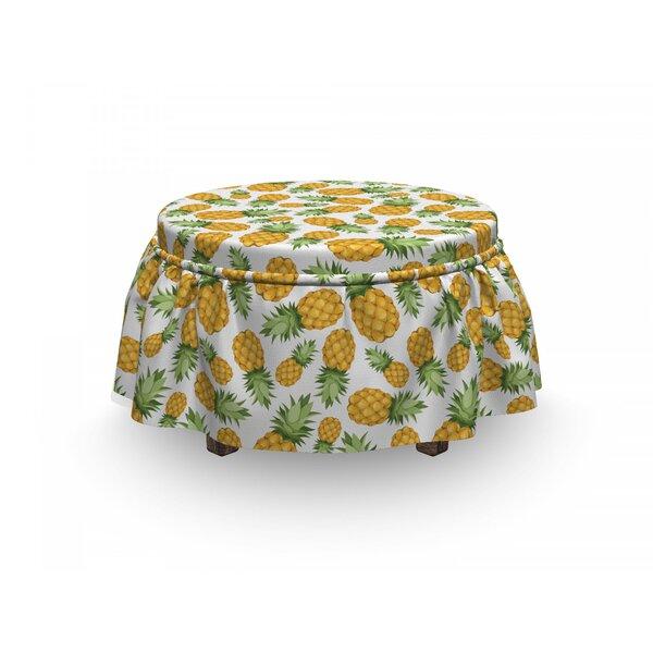 Ripe Pineapple 2 Piece Box Cushion Ottoman Slipcover Set By East Urban Home