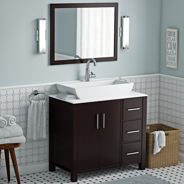 Gainesville 36 Single Free Standing Bathroom Vanity Set with Mirror by Latitude Run