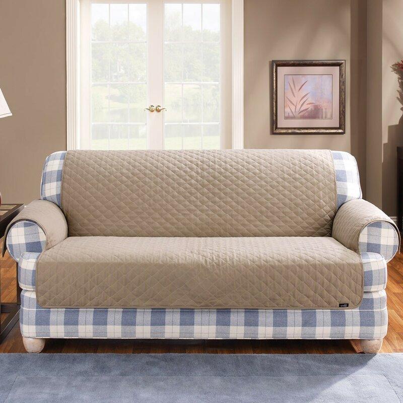 Sure Fit Cotton Duck Furniture Friend Box Cushion Loveseat