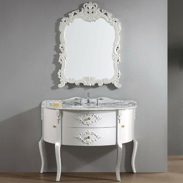 Polak 47.3 Single Bathroom Vanity Set with Gray Top and Mirror by One Allium Way
