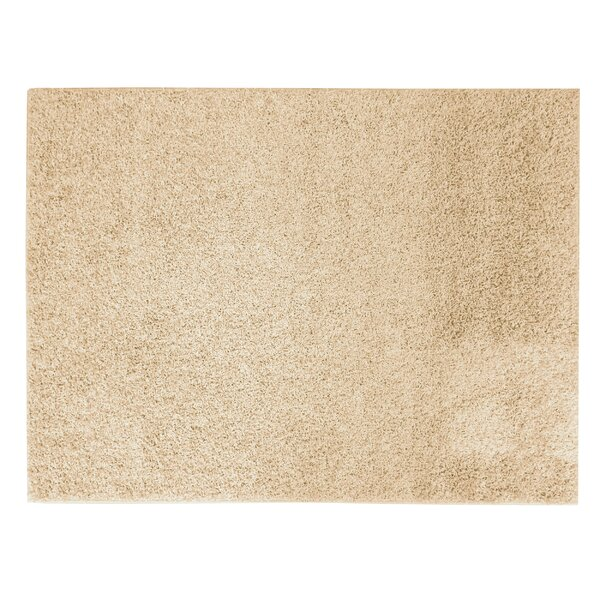 Sherman Cream Shag Area Rug by Winston Porter