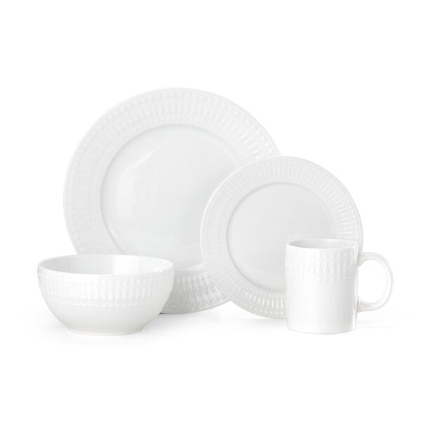 Cassandra 16 Piece Dinnerware Set, Service for 4 by Pfaltzgraff