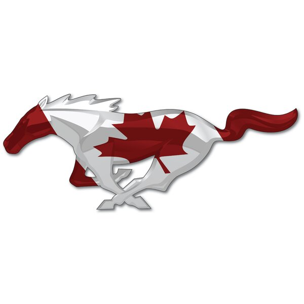 Mustang Unites - Canada Wall Décor by Winston Porter