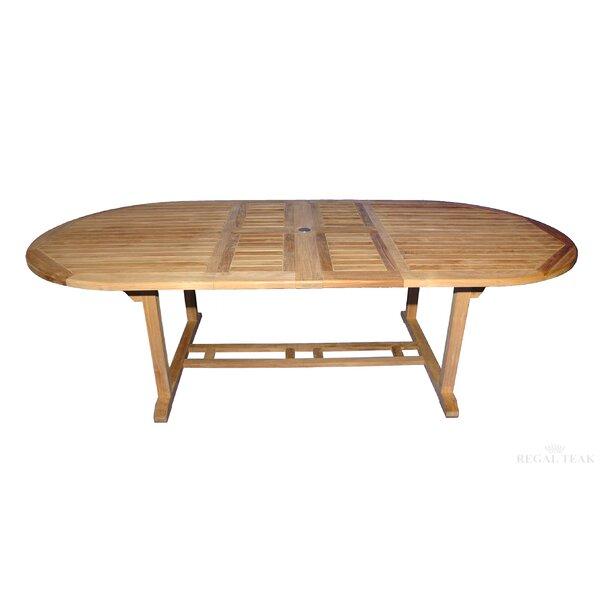 Double Extendable Teak Dining Table by Regal Teak