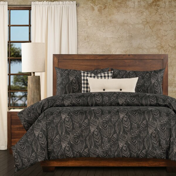 Palm Shadow Exotic Print Duvet Cover and Insert Set