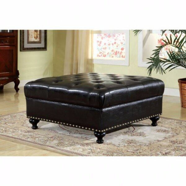 Arleigh Leather Cocktail Ottoman by Darby Home Co