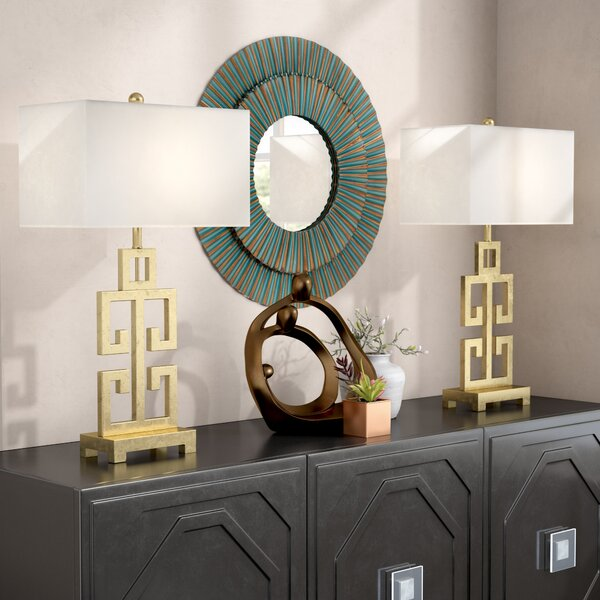 Colon Greek 28.75 Table Lamp (Set of 2) by World Menagerie