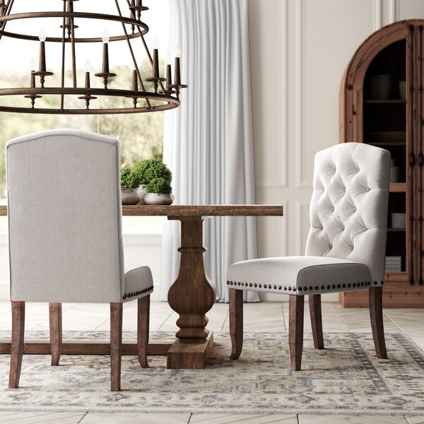 Lakeport Upholstered Dining Chair (Set of 2) by Greyleigh