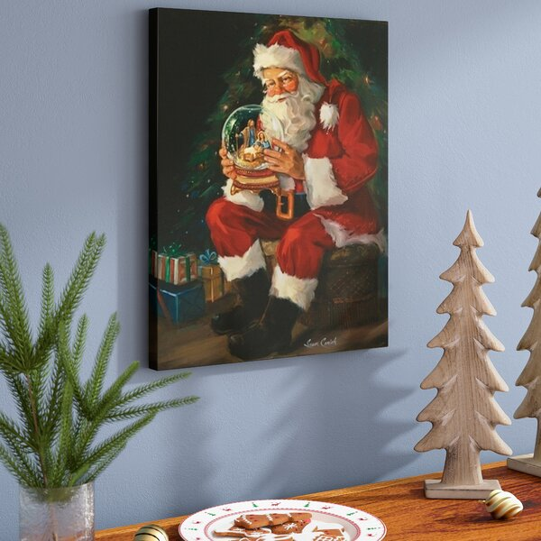 Santa Believes Painting Print On Wrapped Canvas By The Holiday Aisle.