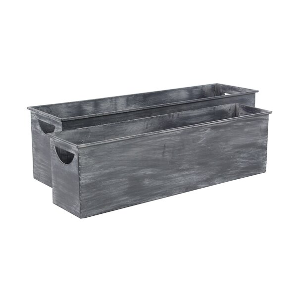 Osterley 2-Piece Metal Planter Box Set (Set of 2) by Gracie Oaks