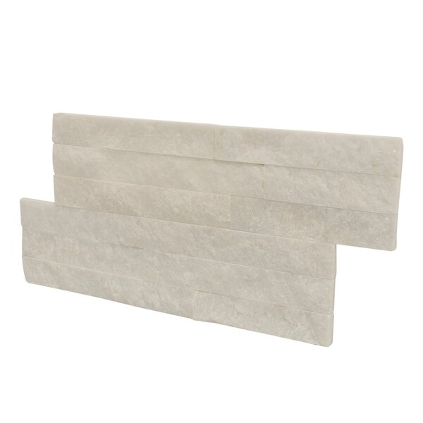 Canyon 16 x 7 Natural Stone Tile in White (Set of 10) by Stone Design