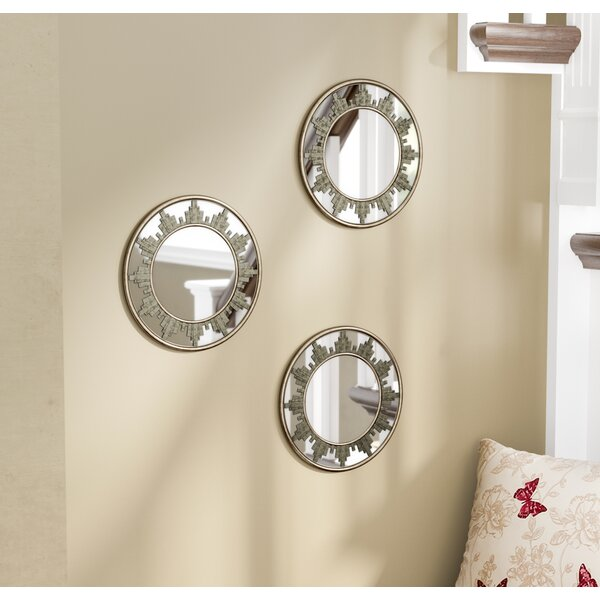 Skyline Accent Mirror (Set of 3) by Three Posts