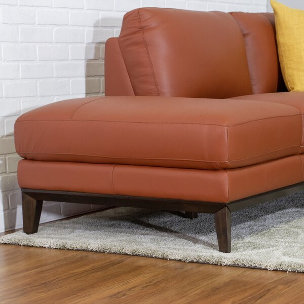 Lorimer Leather Sectional Sofa By Brayden Studio