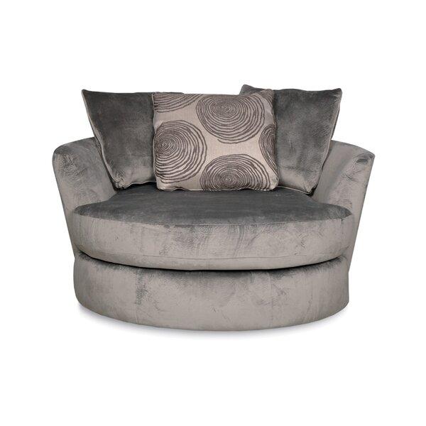 Leesburg Swivel Barrel Chair by Alcott Hill
