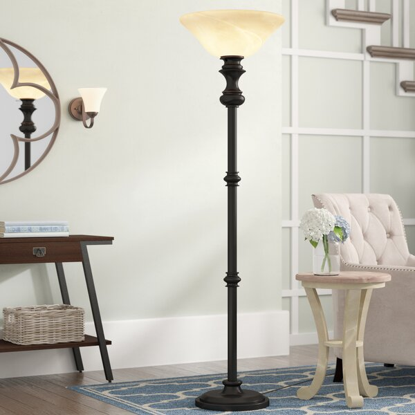 Cantrall 71 Torchiere Floor Lamp by Red Barrel Studio