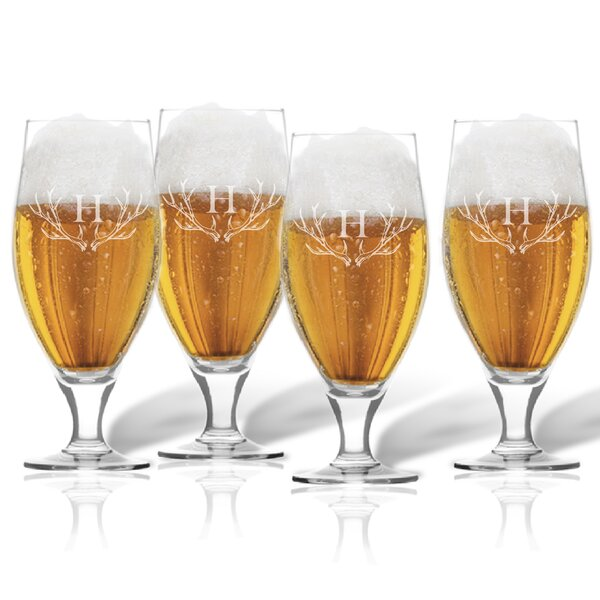 Maximo Cervoise 16 oz. Beer Glass (Set of 4) by Union Rustic