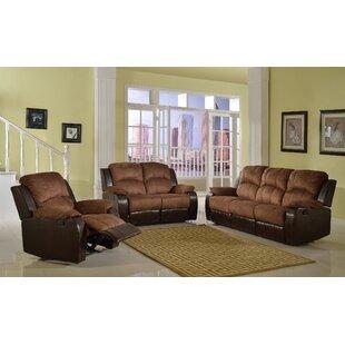 Torian Reclining 3 Piece Living Room Set by Red Barrel Studio®