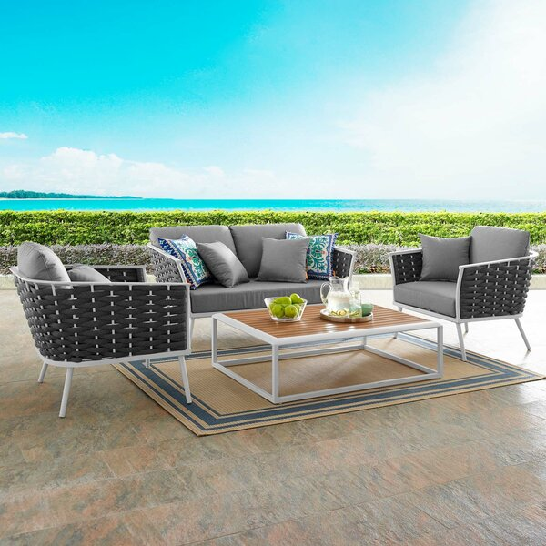 Rossville 4 Piece Sofa Seating Group with Cushions by Ivy Bronx