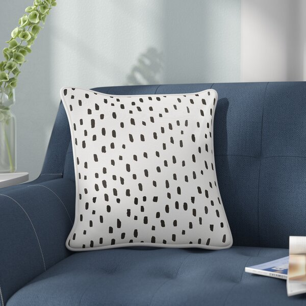 Carnell Dalmatian Dot Cotton Throw Pillow by Mercury Row