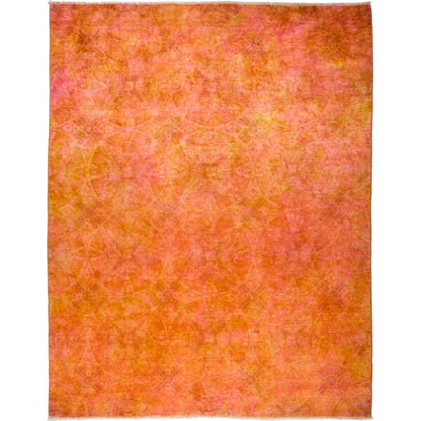 One-of-a-Kind Courter Hand Knotted Orange Area Rug by Bungalow Rose