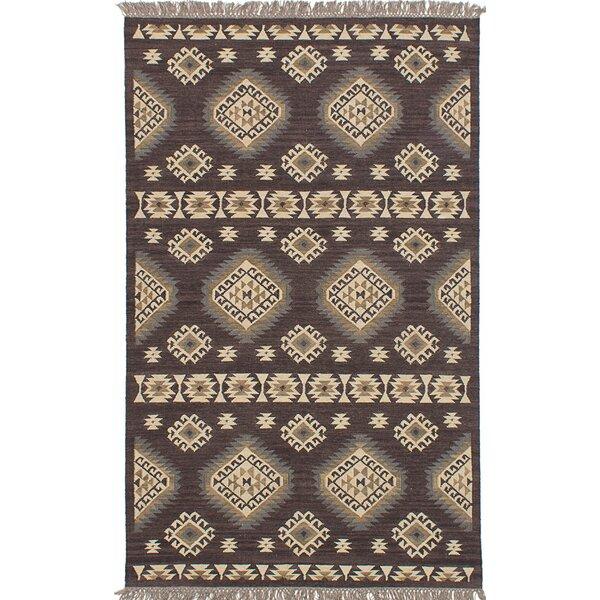Izmir Hand-Woven Gray/Brown/Beige Area Rug by ECARPETGALLERY