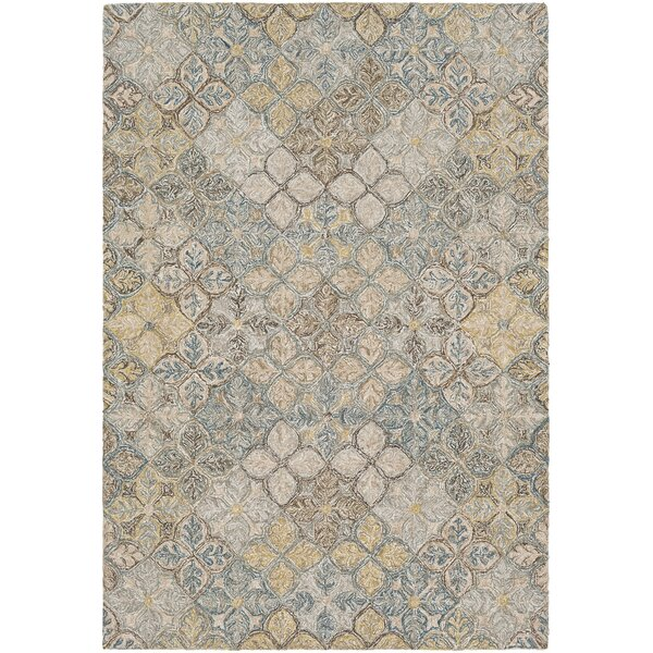 Elsea Hand-Tufted Blue/Brown Area Rug by Red Barrel Studio