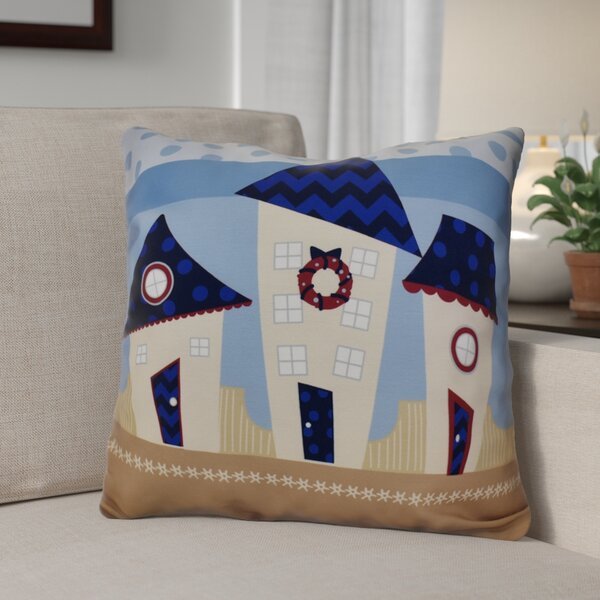 Decorative Christmas Print Outdoor Throw Pillow by The Holiday Aisle