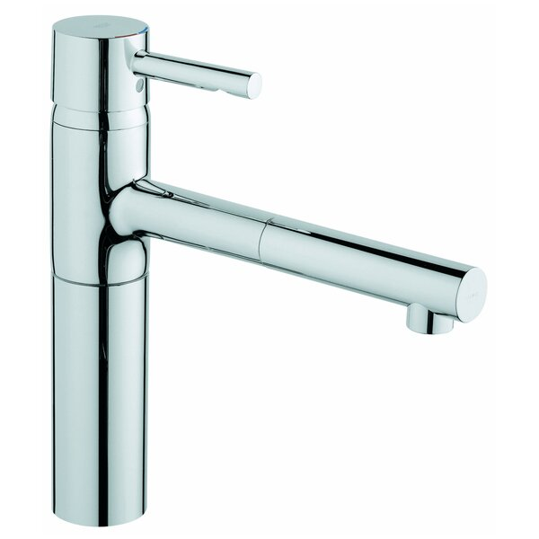 Essence Pull Out Single Handle Deck Mounted Standard Kitchen Faucet with SilkMove® by Grohe