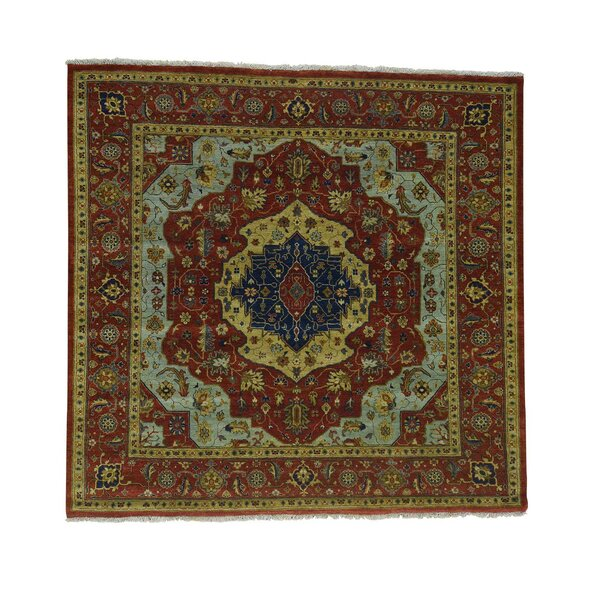 One-of-a-Kind Saltford Re-creation Hand-Knotted Red Area Rug by Astoria Grand