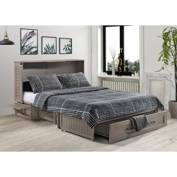 Mata Queen Storage Murphy Bed with Mattress by Breakwater Bay