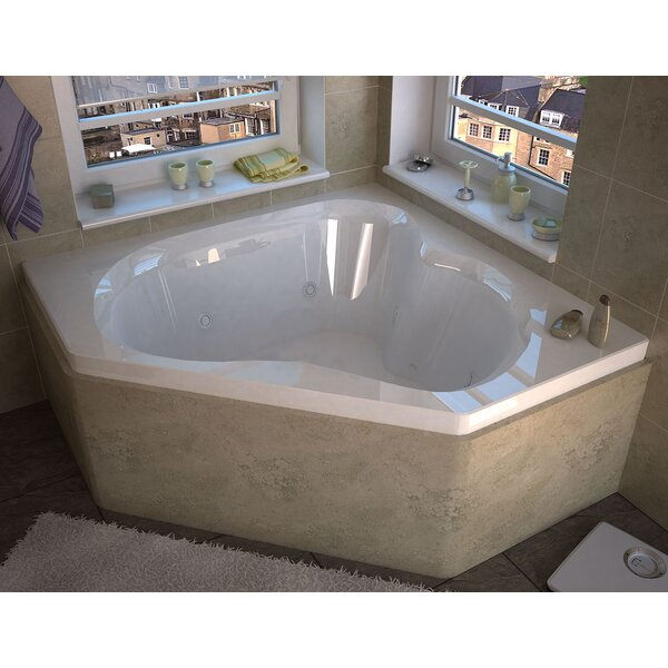 Tobago 59.25 x 59.25 Corner Whirlpool Jetted Bathtub with Center Drain by Spa Escapes