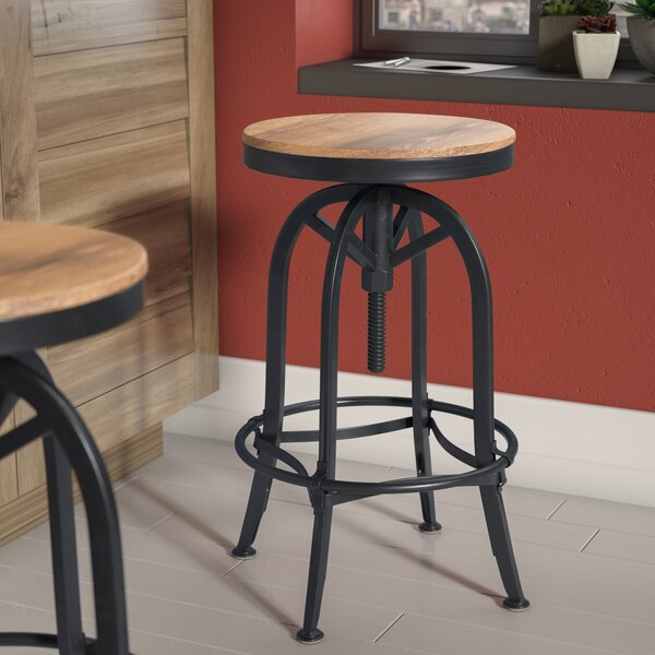 Southbridge Adjustable Height Swivel Bar Stool by