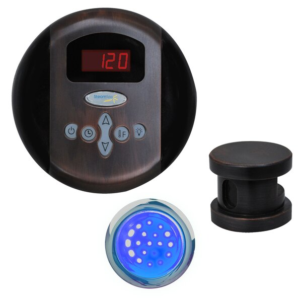 SteamSpa Indulgence Control Kit in Oil Rubbed Bronze by Steam Spa