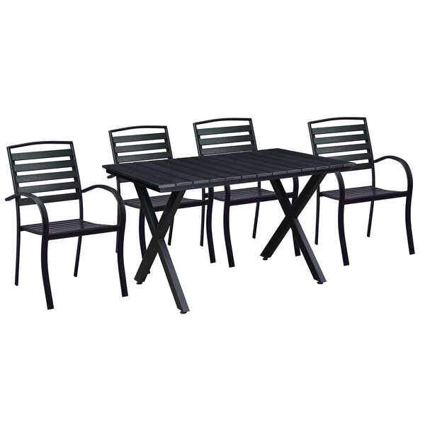 Gallardo Modern Contemporary 5 Piece Dining Set by Wrought Studio