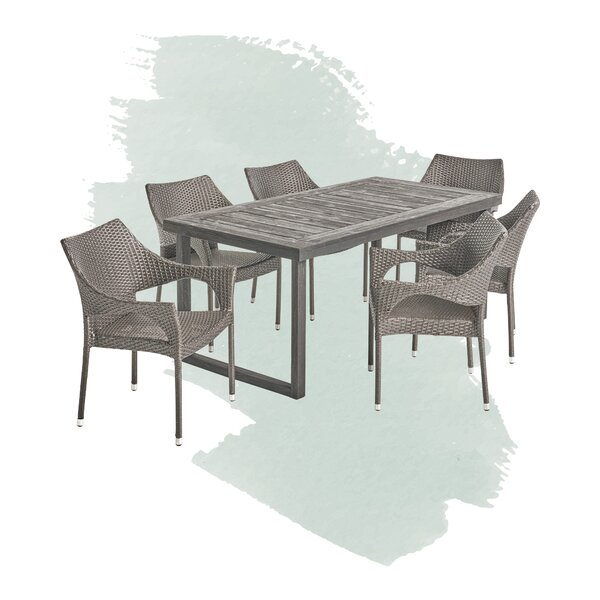 Bryan Outdoor 7 Piece Dining Set by Foundstone