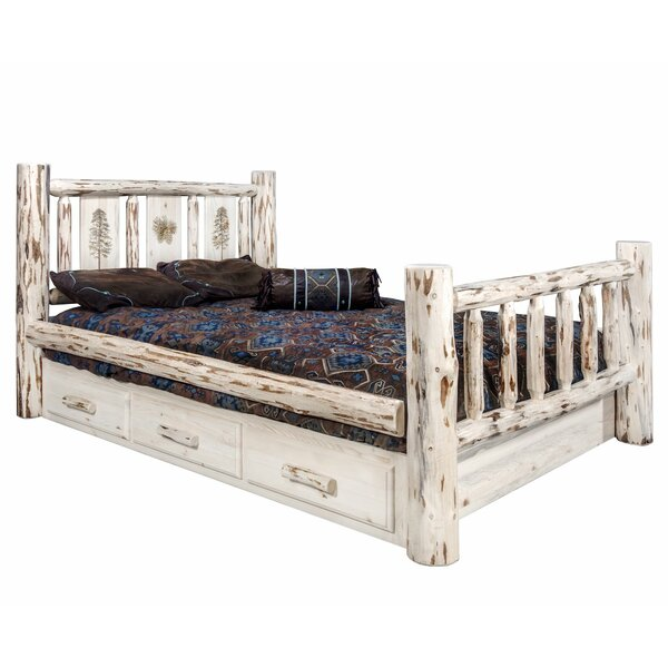 Antigo King Storage Platform Bed by Millwood Pines