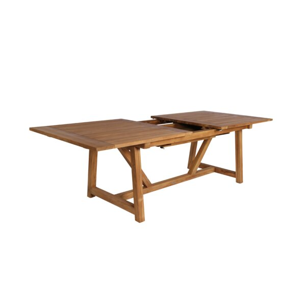 Strange Extendable Teak Dining Table by Loon Peak