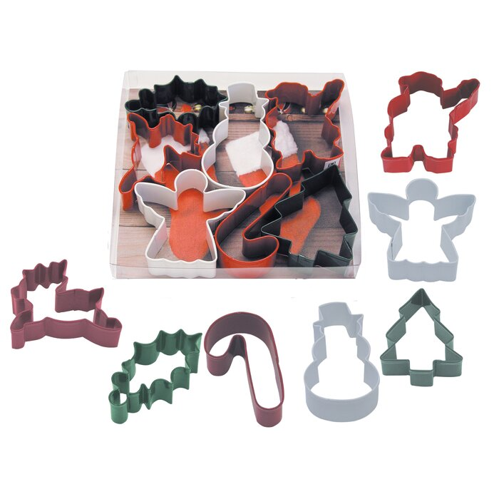 6 Piece Christmas Cookie Cutter Set