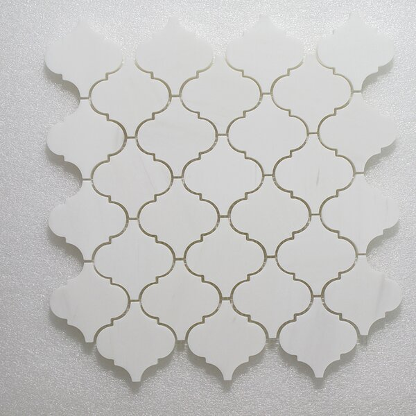 Casablanca Carrara Wall Polished 12 x 12 Natural Stone Mosaic Tile in White by Seven Seas