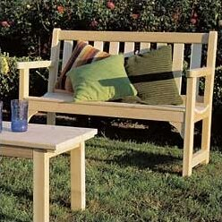 Cedar English Wood Garden Bench by Rustic Natural Cedar Furniture
