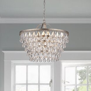 Crystal chandeliers youll love wayfair bramers 6 light crystal chandelier mozeypictures Images