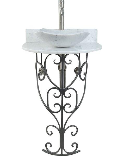 Monterrey Metal 22 Pedestal Bathroom Sink by D'Vontz