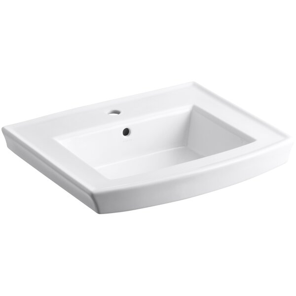 Archer Vitreous China 24 Bathroom with Sink Overflow by Kohler