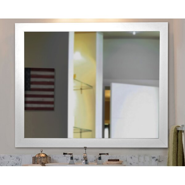 White Handcrated Wall Mirror by Brayden Studio