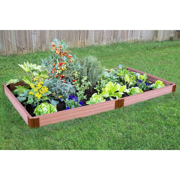 Classic Sienna 4 ft. x 8 ft. Composite Raised Garden by Frame It All