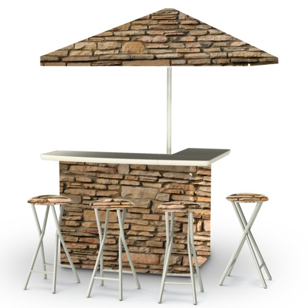 Rock Wall 8 Piece Bar Set by Best of Times