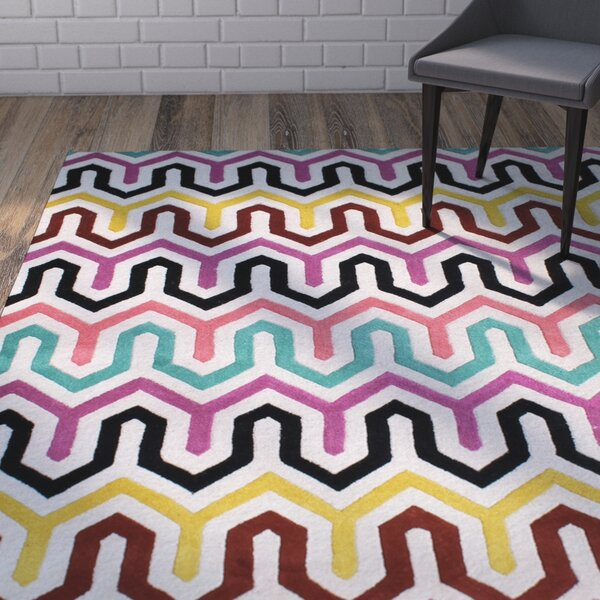 Boettcher Hand-Woven Pink/Yellow Area Rug by Brayden Studio