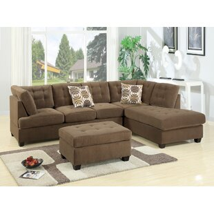 Tomita Reversible Modular Sectional with Ottoman by Red Barrel Studio