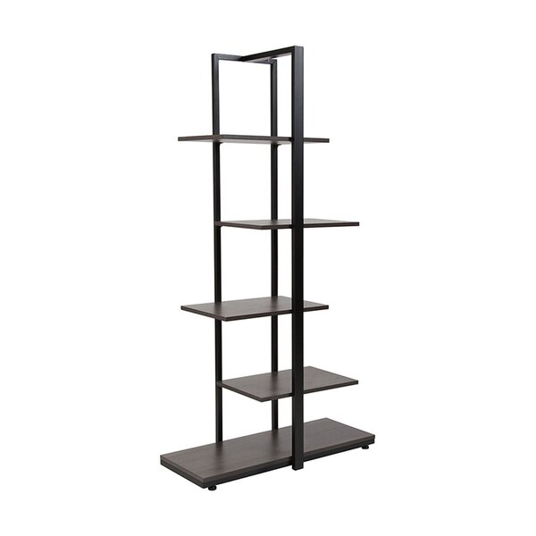Pothier 5-Tier Standard Bookcase by Ebern Designs